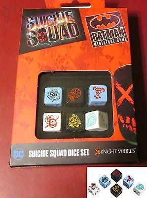 6 Batman Miniature Game D6 Batman Dice Set