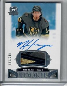 2019-20 Upper Deck The Cup ROOKIE PATCH AUTO NICOLAS HAGUE 135 OF 249 3 COLOR