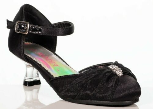 Girls Toddlers Youth Black Mary jane Formal Little heel shoes size 10,12,13