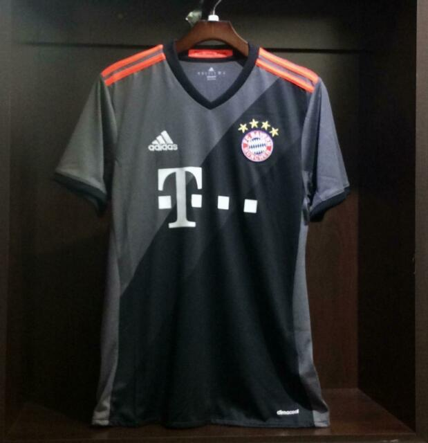 FC BAYERN Munich AWAY Soccer JERSEY Adidas Men's GraySolar Red AZ4656
