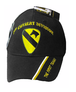 56d3e9ae2b2e8 Image is loading 1st-CAVALRY-DIVISION-BLACK-EMBROIDERED-BASEBALL-CAP-hat-