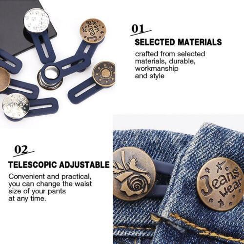 2PCS Jeans Retractable Button Adjustable hot sale