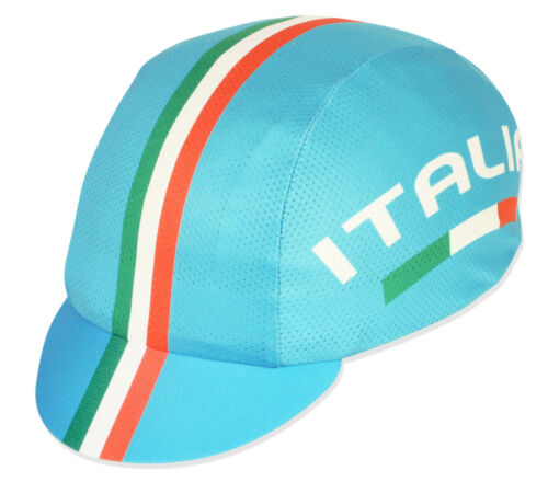 ITALIA 100/% COOLMAX TEAM CYCLING CAP NEW BIKE RIDE HAT  **