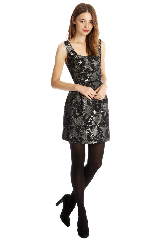 Oasis Ria Jacquard Lantern Dress 8