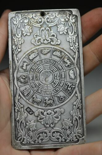 Lovely Chinese Cloisonne hand carved 12 Twelve Chinese Zodiac pendant oo20