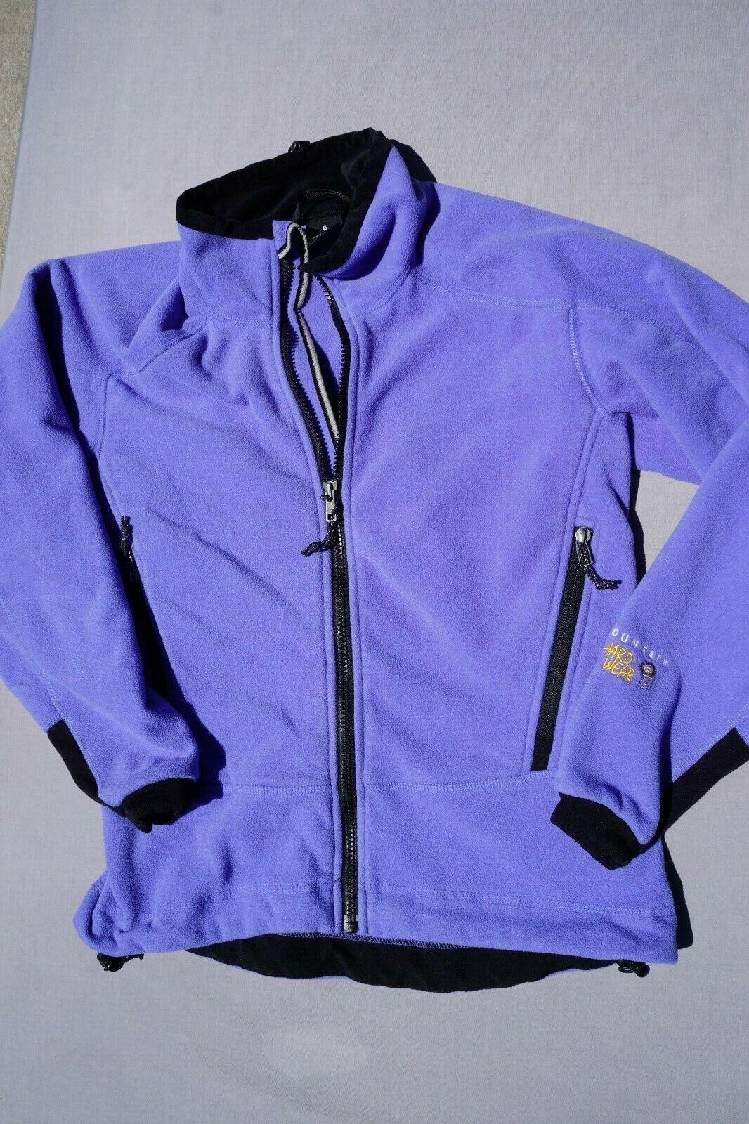 Mountain Hardware Polartec Fleece Full Zip Sweatshirt With Pockets Women's Sz 6