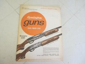 Details about 1965 REMINGTON ARMS SPORTING FIREARMS DEALERS PRICE LIST  CATALOG SEARS Glendale