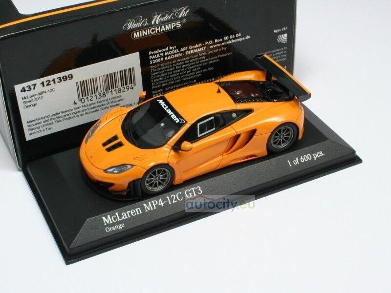 MINICHAMPS MCLAREN MP4-12C MP4-12C MP4-12C GT3 STREET orange 437121399 fa1e64