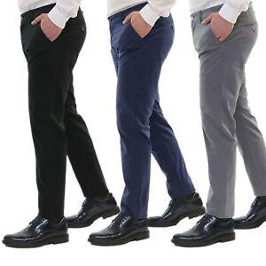 Pantaloni-Uomo-Estivi-Cotone-Chino-Slim-Fit-Elegante-Tasche-America