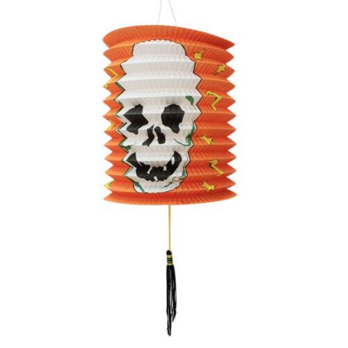 Paper Pumpkin Bat Skeleton Hanging Lanterns Lights Lamps Halloween Party Decor