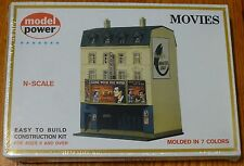 "Model Power N #1537 Building Kit -- Movie House - 3-5/8 x 3-1/2"" 9 x 8.8cm"