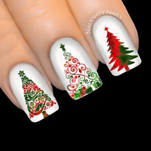 Xmas Stardust Christmas Tree Nail Decal Xmas Water Transfer Sticker
