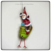 Dept 56 Whimzily Santa With Bird Christmas Ornament