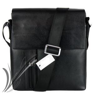 Dettagli su Borsello tracolla uomo borsa portadocumenti da spalla messenger per lavoro nero