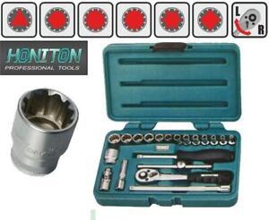 CRAFTSMAN TOOLS 23pc 1//4 SHORT /& DEEP 6pt METRIC MM ratchet wrench socket set