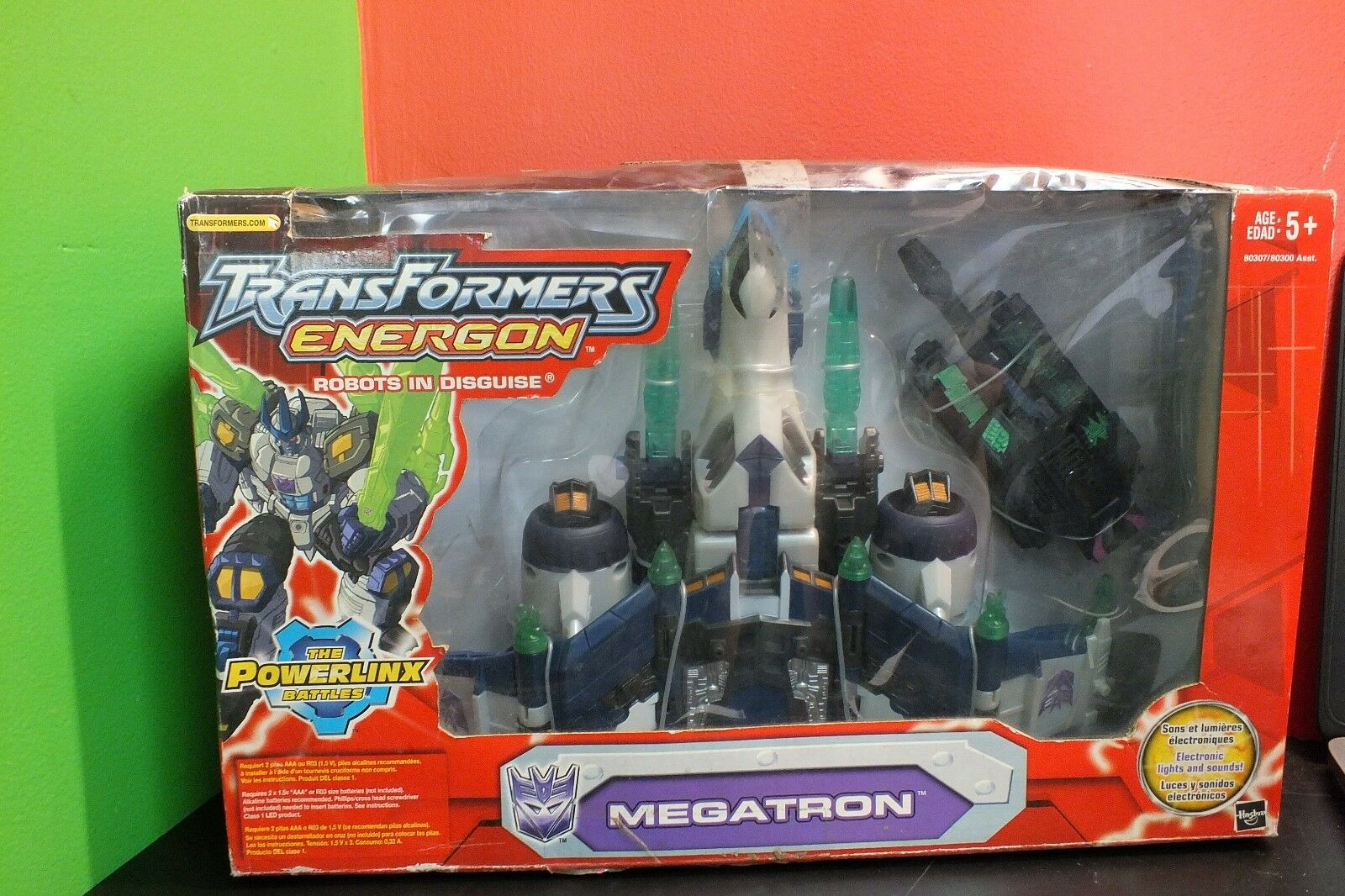 Megatron Energon Transformers Super Class Hasbro 2004 MISP  With Tank Powerlinx