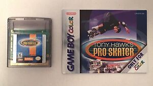 Nintendo Rare Tony Hawk's Pro Skater w/ Manual Gameboy Color Cartridge GBC