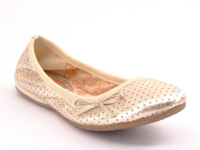 Nuevo informe de plata de cuero cuero cuero para mujer Vestido Informal Suave Plana Zapatilla Zapato Talla 7.5 M 1f0d9e