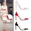 Women-Pointy-Toe-High-Stiletto-Heel-Chic-Wedding-Shoes-Sandals-Pumps-Transparent thumbnail 2