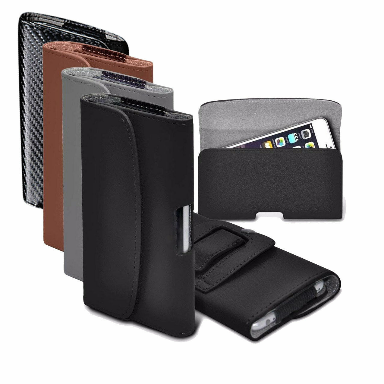 PU Faux Leather Horizontal Belt Holster Case Cover for Oukit