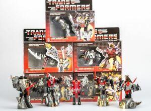 NEW-TRANSFORMERS-G1-Reissue-Dinobots-Grimlock-Swoop-Slag-Snarl-Sludge-in-stock