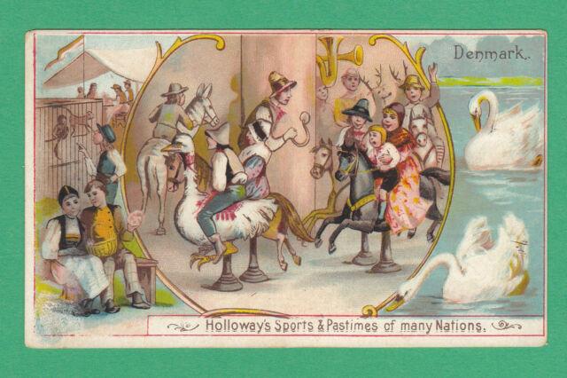THOMAS  HOLLOWAY  LTD.  -  RARE SPORTS & PASTIMES CARD  -  DENMARK  -  1900