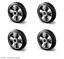 4 pezzi hubwagenrad ELASTIK completamente in gomma 125 160 200 ruota di scorta Alu incl Set Montaggio
