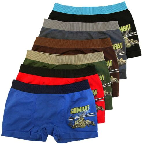 """ToBeInStyle Boy/'s Pack of 6 Seamless Boxer Briefs /""""Combat Helicopter/"""""""
