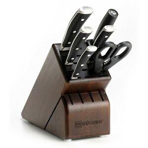 Wusthof Classic Ikon 7 Piece Knife Block Set Walnut model ...