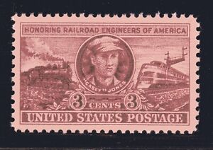 ESTADOS-UNIDOS-Sello-993-3c-Railroad-Casey-Jones-Xf-Superb-Mint-Grado-95