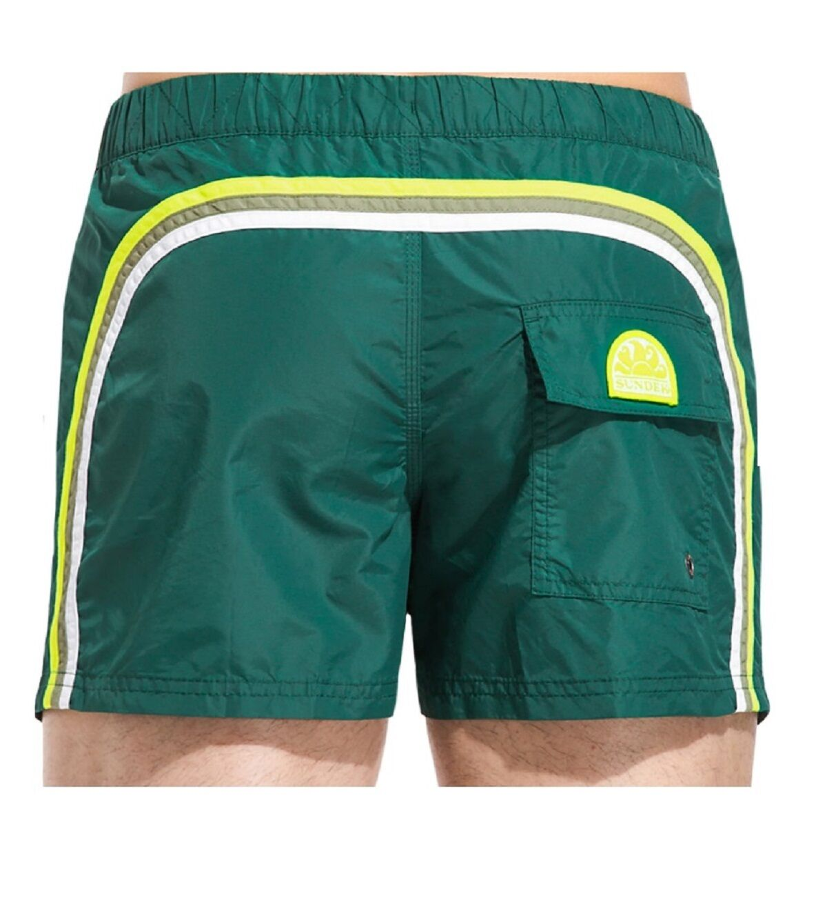 Costume Sundek m520bdta100 457 elastic waist 13 hut green ss17