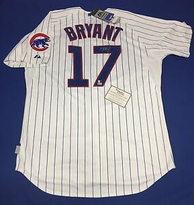 Kris Bryant Signed Majestic Chicago Cubs Baseball Jersey MLB/Fanatics