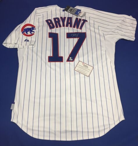 high-quality Kris Bryant Signed Majestic Chicago Cubs Baseball Jersey MLB  Fanatics ddf355caf