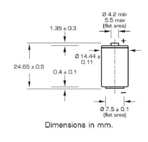 10 x Saft Pile Lithium LS 14250-1//2 AA Lot de 10