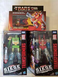 Transformers Siege Starscream Springer and siege Soundwave