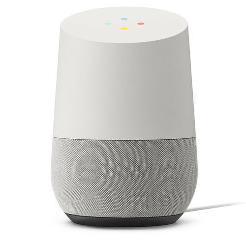 Google Home Personal Assistant Voice Activated Speaker - White Slate