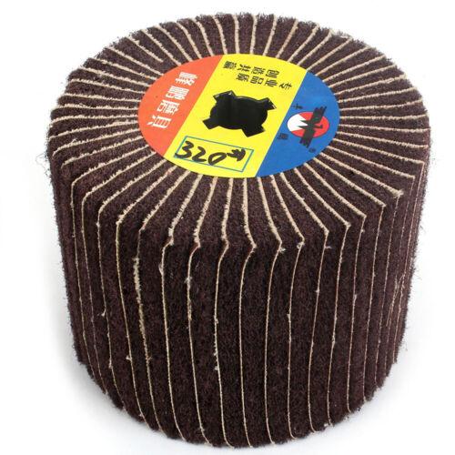 "4.8/""Abrasive Wire Drawing Polishing Wheel Grit 40-320 For Burnishing Machine"