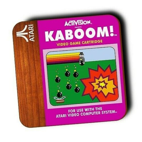 cadeaux ATARI 2600 Console de jeux-RETRO ATARI GAMES-Coasters-bois-Gaming