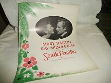vtg souvenir broadway theatre programs MARY MARTIN  & Middleton in South Pacific