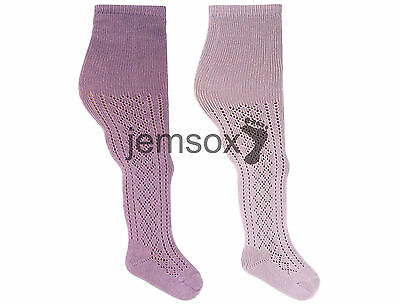 2 Pairs 6-12//12-18//18-24 Month Pelerine Baby UK Made Tights LILAC//MAUVE
