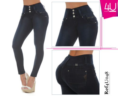 Jeans colombianos butt lifter fajas colombianas jeans levanta cola pompi 4U048
