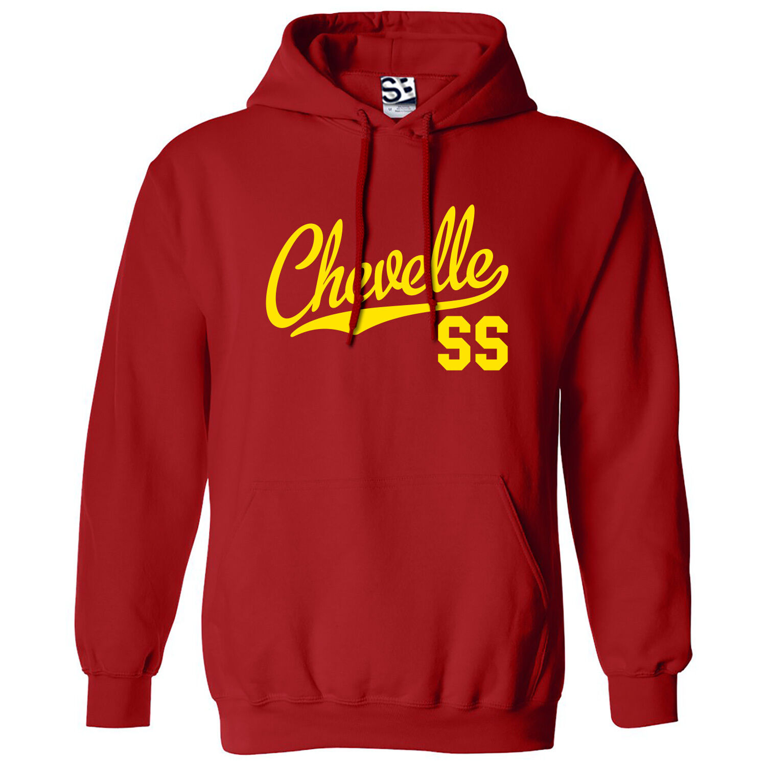 Chevelle SS Script & Tail HOODIE - Hooded Muscle Car Sweatshirt w All Farbes