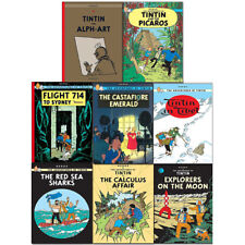 Adventures of Tintin Collection Series 4 to 5 , 8 Books Flight 714 to Sydney NEW