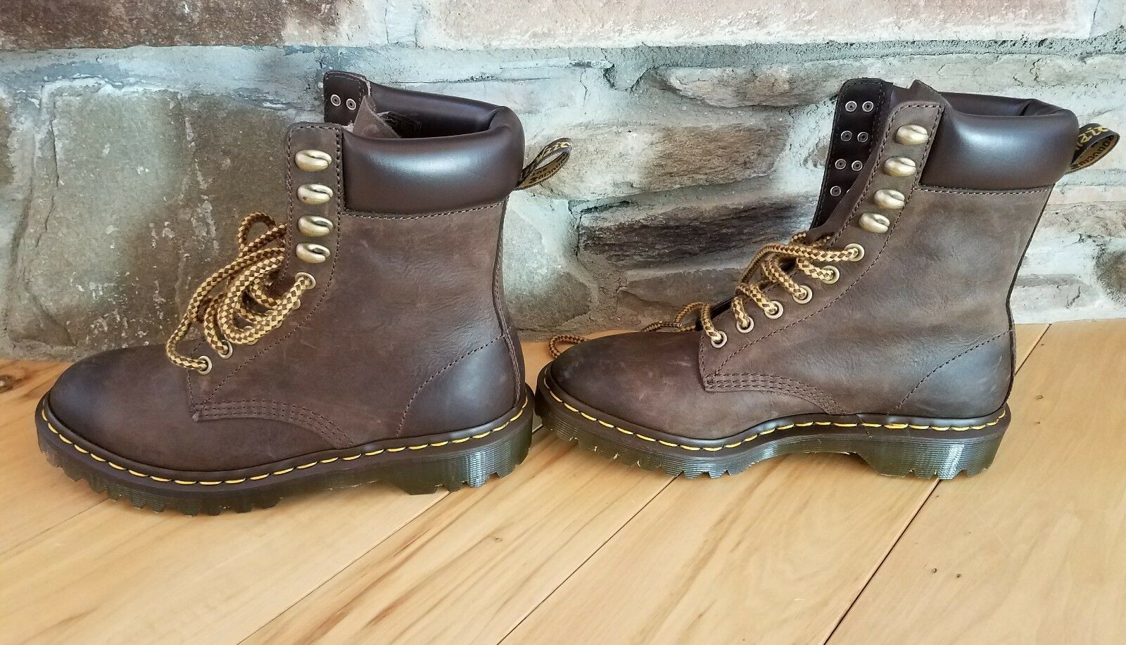 DR. MARTENS PADTEN 10 EYE BOOTS BROWN MENS SIZE 4 BRAND NEW WITHOUT BOX