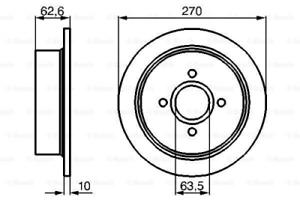 2x Bremsscheibe für Bremsanlage Hinterachse BOSCH 0 986 478 672