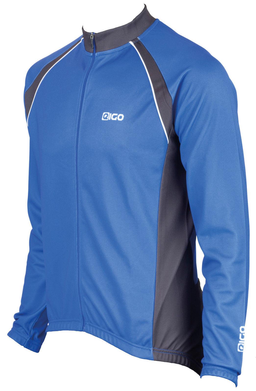 EIGO LOGIC LONG SLEEVE CYCLING JERSEY-THERMAL WINTER SPRING ROAD MTB blueE