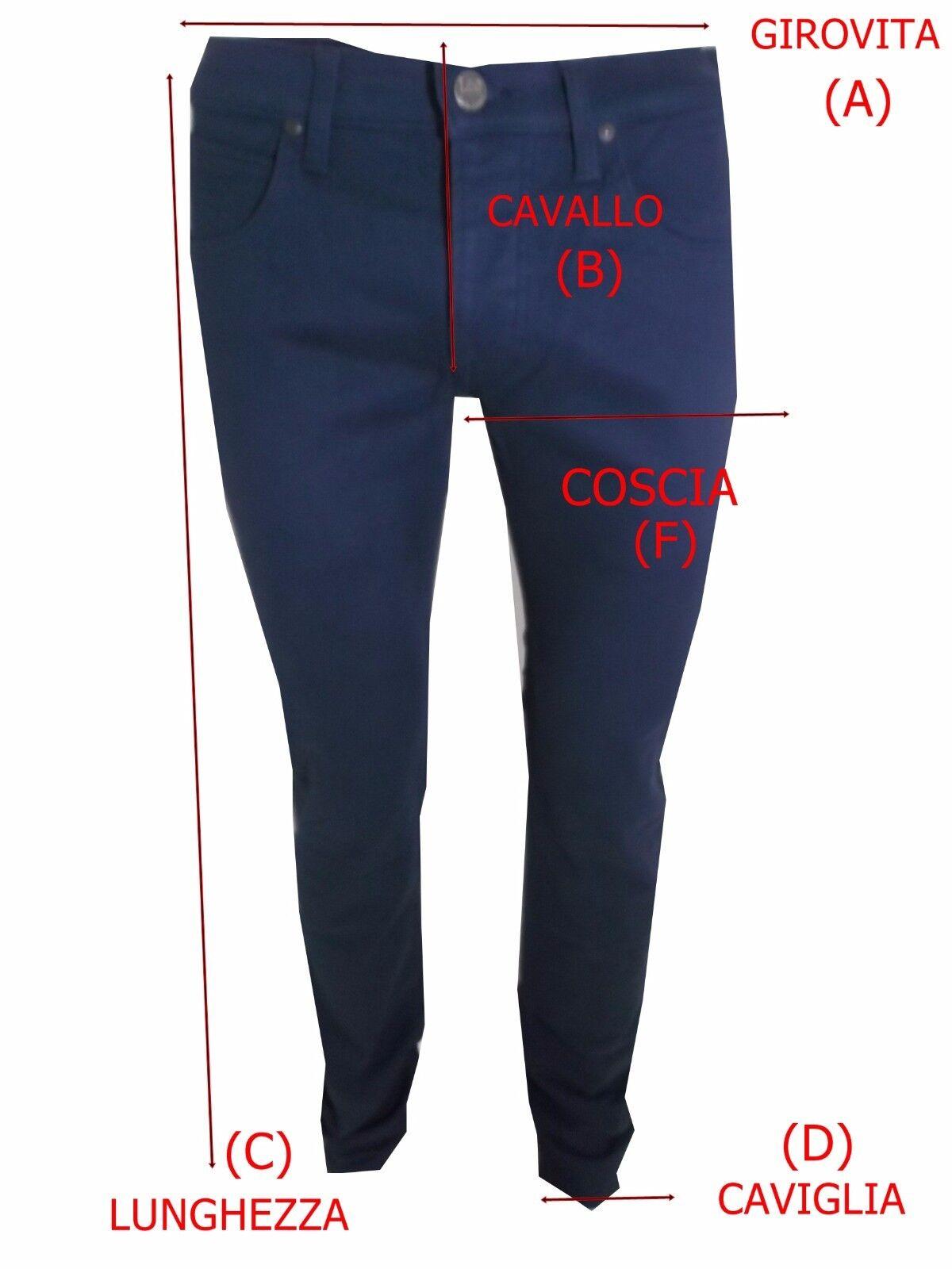 Jeans Jeans Jeans gas da donna con strass elasticizzati a gamba dritta vita bassa W28 42 blu 20da5b