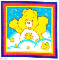 7.5 Care Bears Funshine Bear Character Novelty Fabric Applique Iron On
