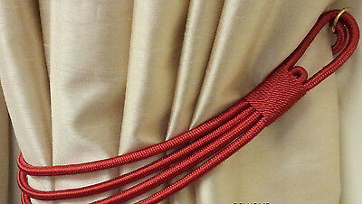 LARGE THICK TWISTED CORD SILKY ROPE BANDED STUNNING CURTAIN TIEBACK FREE POSTAGE