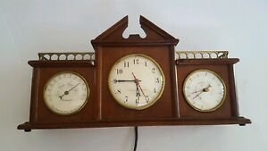 Vintage-Swift-amp-Anderson-Mantel-Clock-Barometer-Thermometer